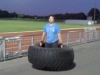 Matthew Frampton, 59.52m Hammer Thrower, 292.5kg Deadlifter and Strong Man Enthusiast getting tyred in Training at Kings Park